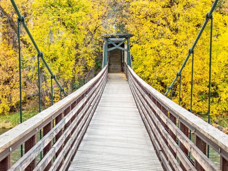 Puente del pie sobre el río de los Animas fotos de archivo libres de regalías