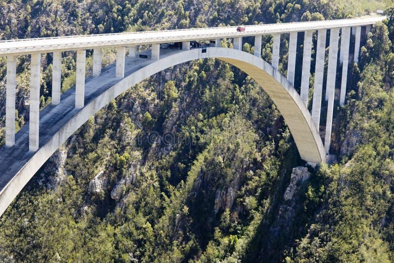 Puente del río de Bloukrans (216 m) imagen de archivo libre de regalías