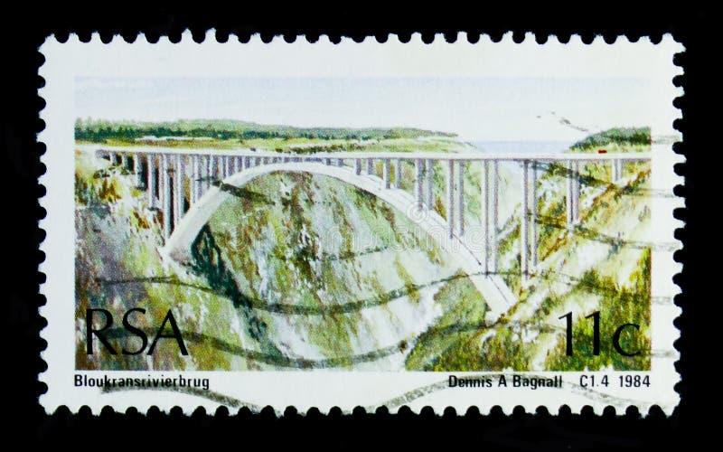 Puente del río de Bloukrans, serie de los puentes, circa 1984 imagen de archivo