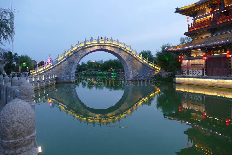 Puente del río de China fotografía de archivo
