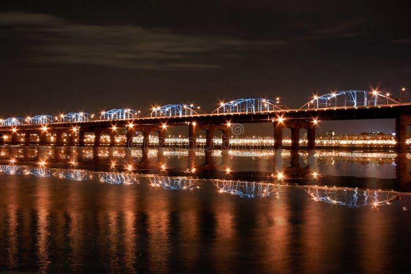 Puente del río de Han fotografía de archivo