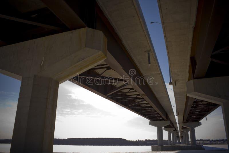 Puente del río de Jemseg foto de archivo libre de regalías