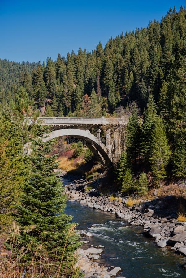 Puente del río de North Fork Payette foto de archivo libre de regalías