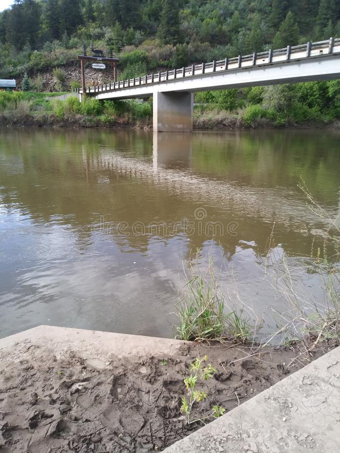 Puente del r?o Colorado foto de archivo