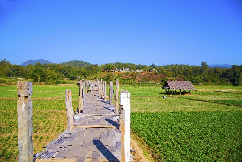 Puente del Su Tong Pae, Mae Hong Son, Tailandia imágenes de archivo libres de regalías