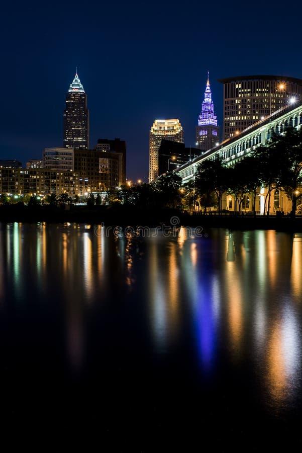 Puente Detroit-superior - Cleveland, Ohio imágenes de archivo libres de regalías