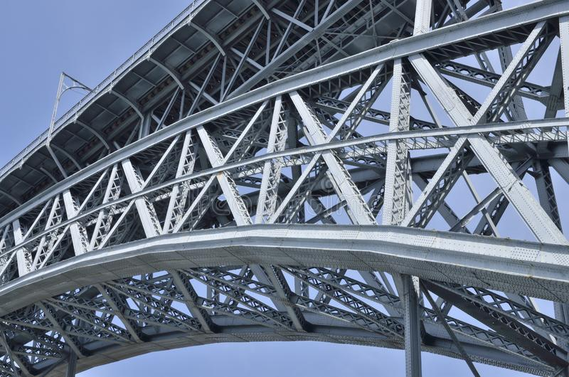 Puente Dom Luis del detalle foto de archivo