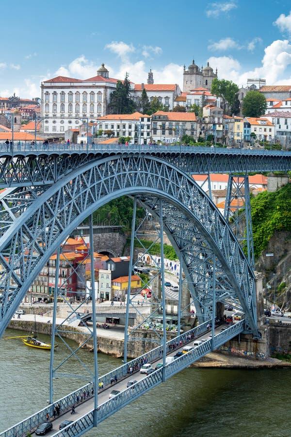 Puente Dom Luis, Portugal de Oporto imagen de archivo