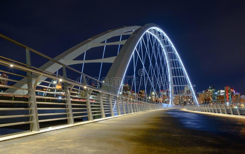 Puente Edmonton de Walterdale foto de archivo