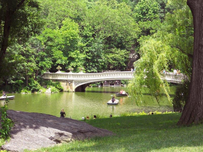 Puente en Central Park, NYC del arco imagen de archivo libre de regalías