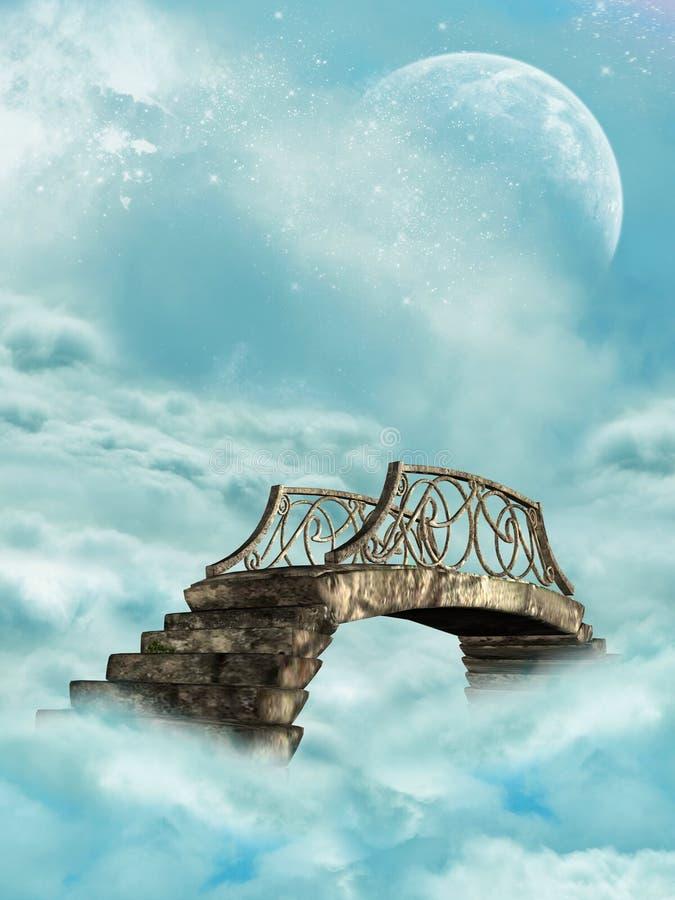 Puente en el cielo ilustración del vector