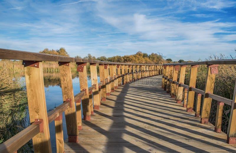Puente en el lago fotos de archivo libres de regalías