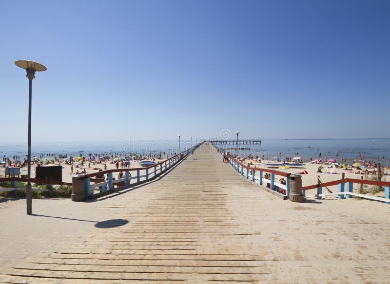 Puente en el mar Báltico foto de archivo libre de regalías