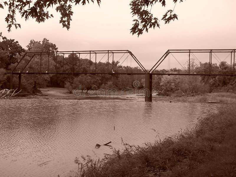 Puente en el molino de Caplinger foto de archivo libre de regalías