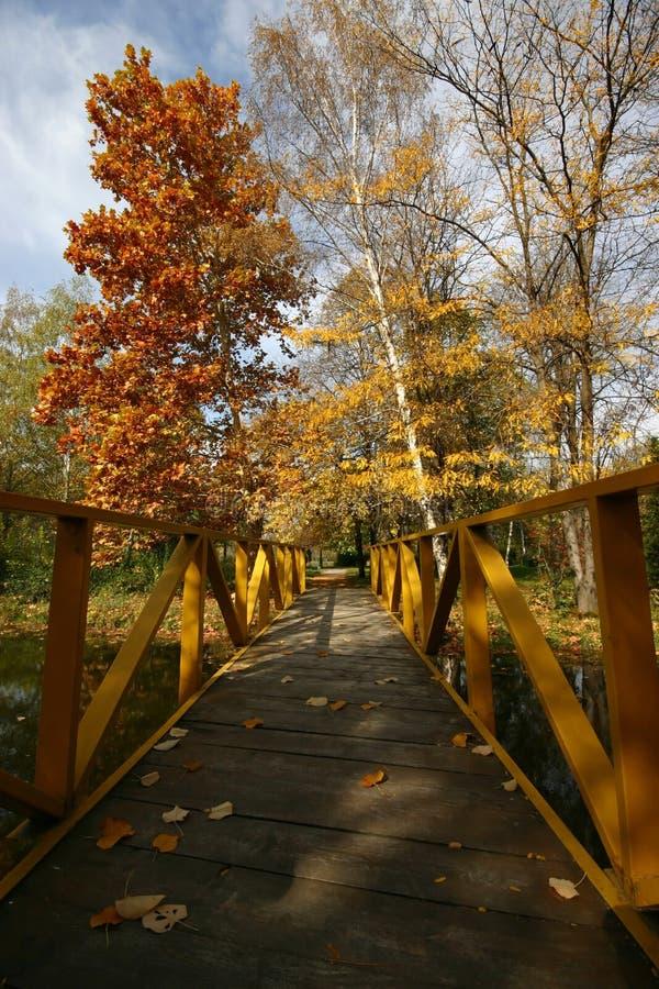 Puente en el parque fotos de archivo