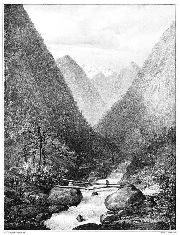 Puente en el río de San Matéo fotografía de archivo libre de regalías