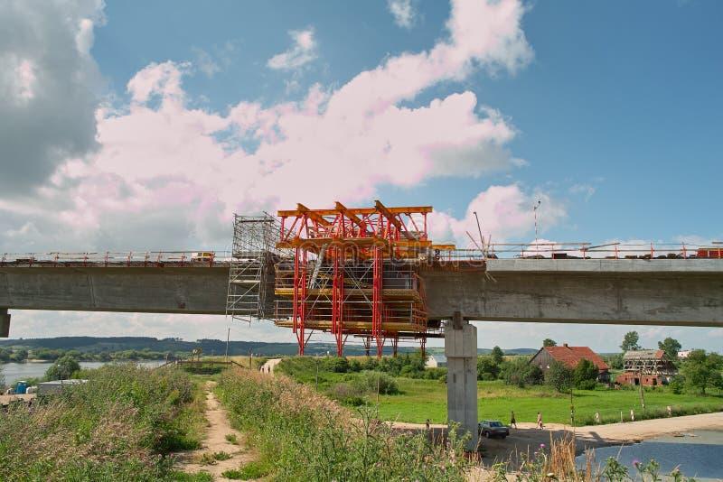 Puente En El Río Vistula Fotografía de archivo libre de regalías