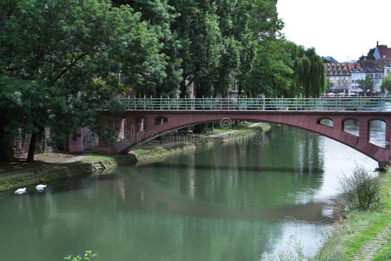 Puente en Estrasburgo, Francia imágenes de archivo libres de regalías
