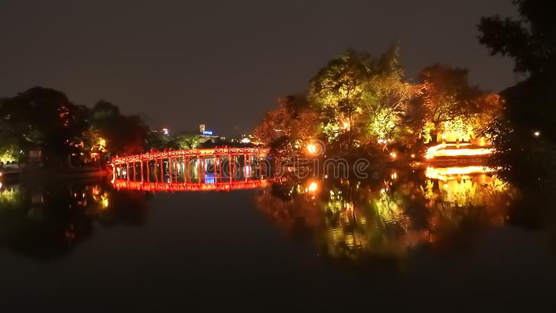 Puente en Hanoi Vietnam fotografía de archivo