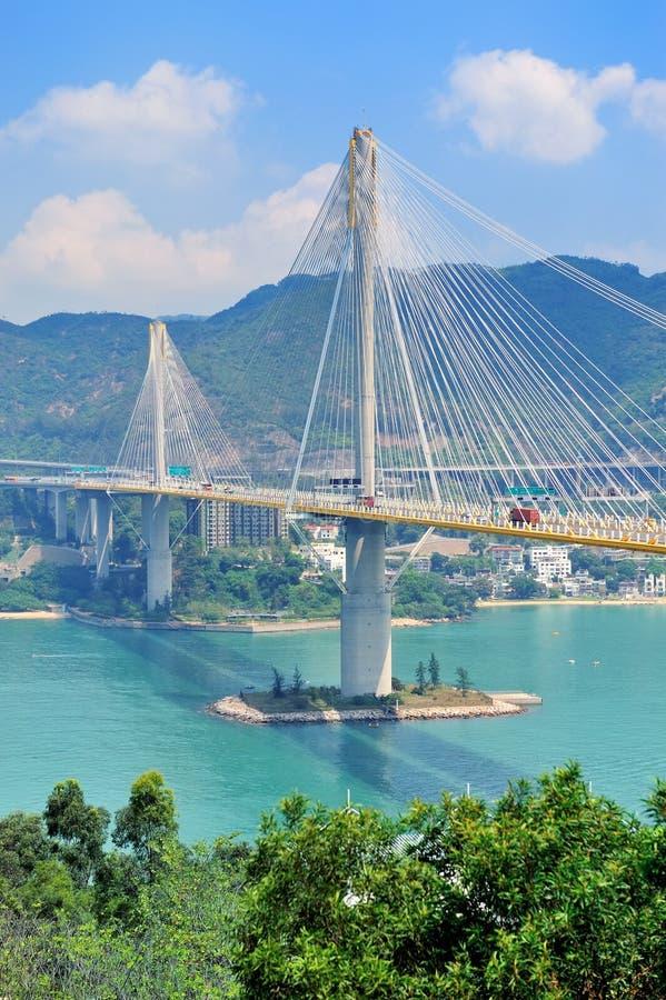 Puente en Hong-Kong fotografía de archivo libre de regalías