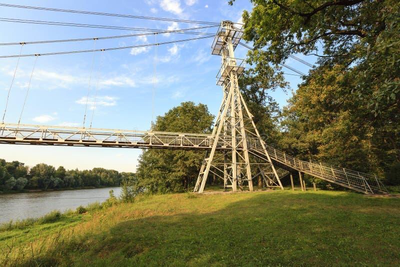 Puente en la ciudad de mosty imágenes de archivo libres de regalías