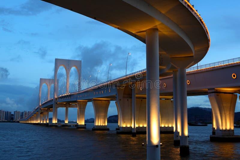 Puente en Macao imagen de archivo libre de regalías