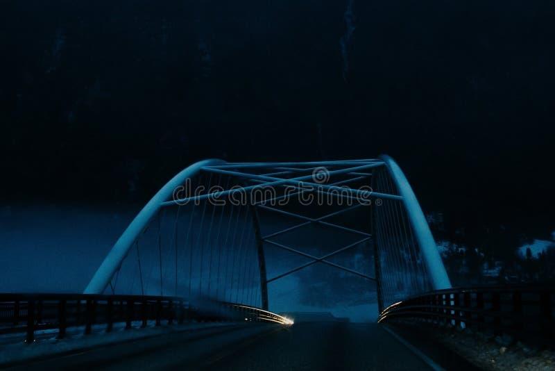 Puente en norway imagen de archivo