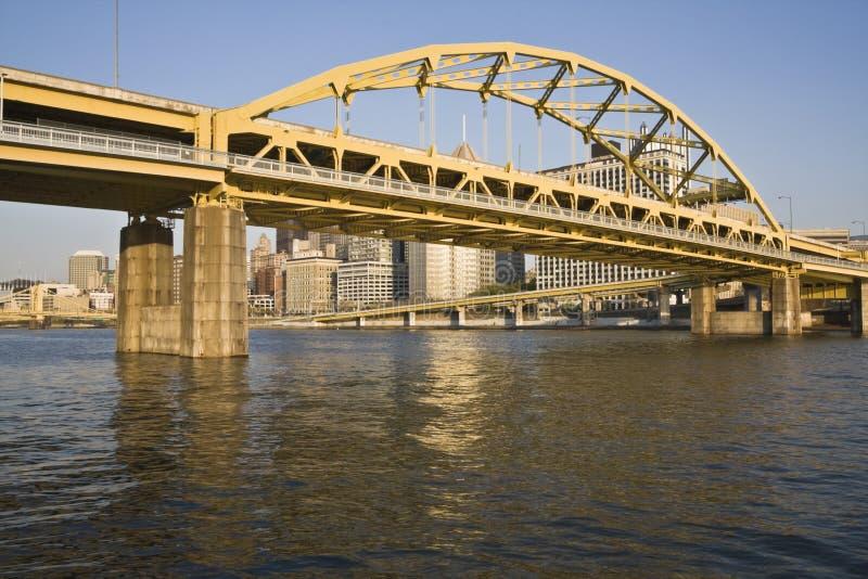 Puente en Pittsburgh fotografía de archivo libre de regalías