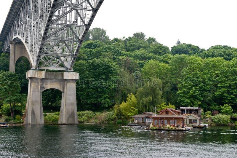 Puente en Seattle fotos de archivo