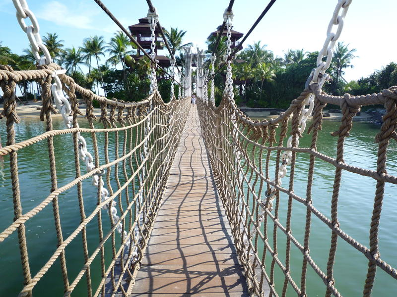 Puente en Sentosa foto de archivo libre de regalías
