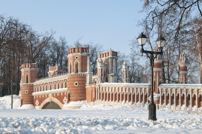 Puente en Tsaritsino, Moscú fotos de archivo libres de regalías