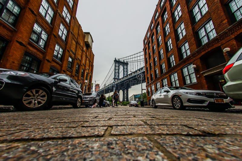 Puente Estados Unidos, Brooklyn de Manhattan imagen de archivo libre de regalías