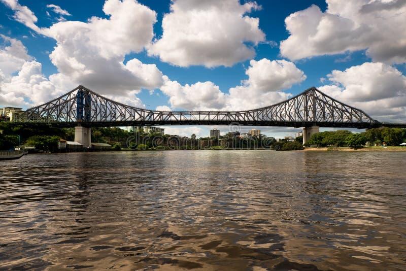 Puente famoso de la historia del ` s de Brisbane fotos de archivo libres de regalías