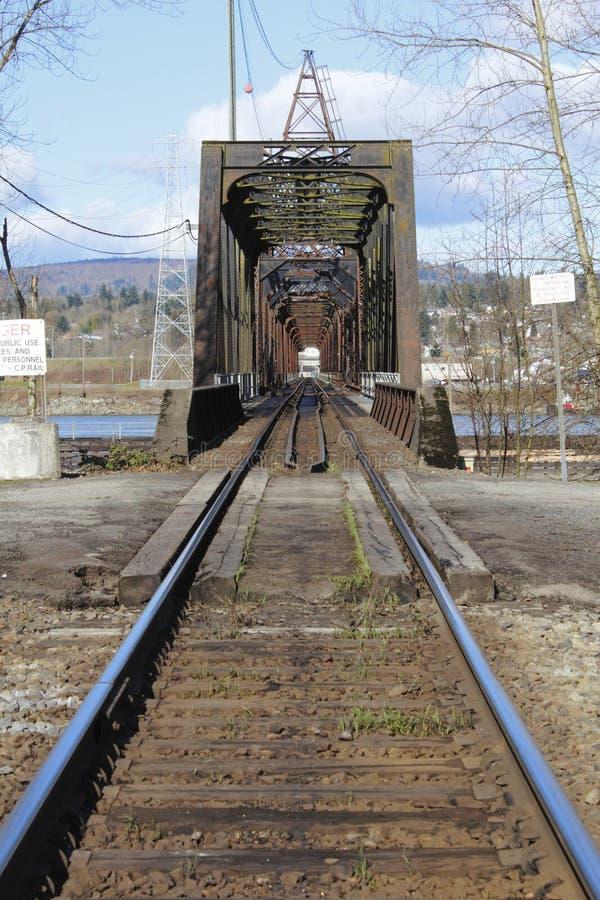 Puente ferroviario imagen de archivo