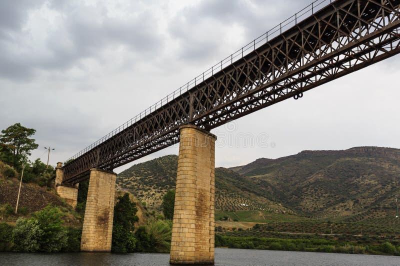 """Puente ferroviario internacional del †de Barca de Alva """" fotografía de archivo libre de regalías"""
