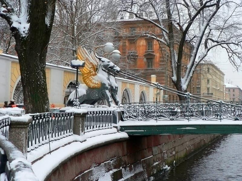 Download Puente financiero foto de archivo. Imagen de nieve, hoarfrost - 1261274
