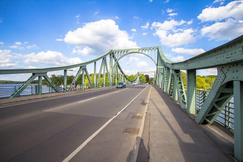Puente Glienicke en Berlín foto de archivo libre de regalías