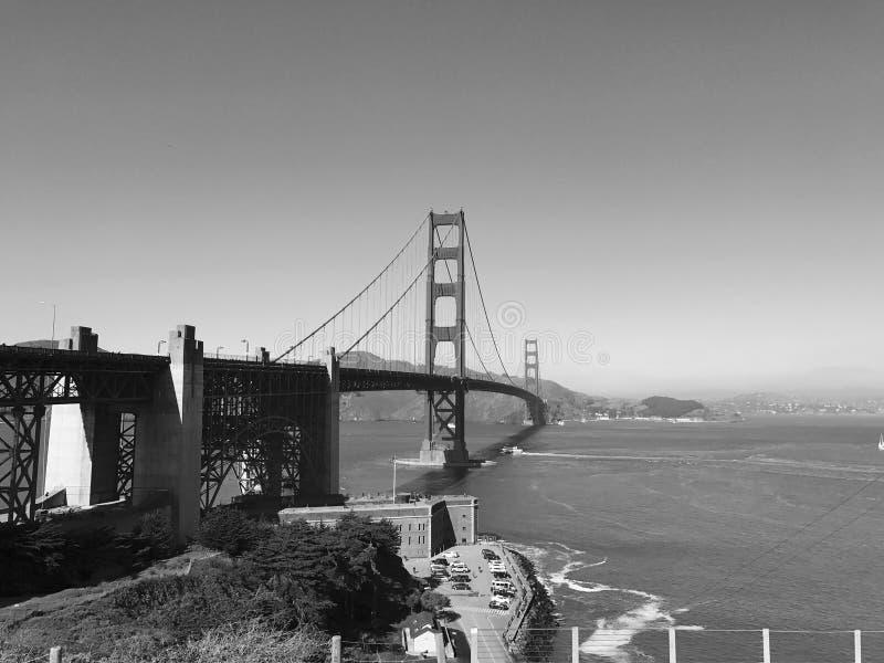 Puente Golden Gate blanco y negro fotografía de archivo