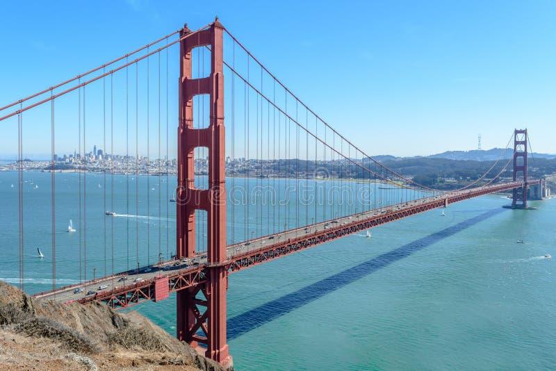 Puente Golden Gate de la chaqueta de punto de la batería, Sausalito fotografía de archivo