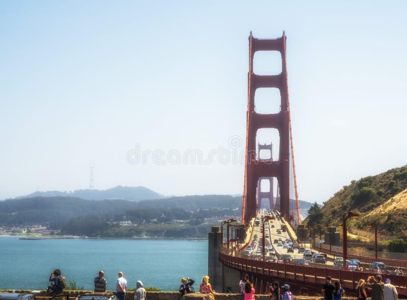 Puente Golden Gate el 16 de agosto de 2017 - San Francisco, California, CA imagen de archivo libre de regalías