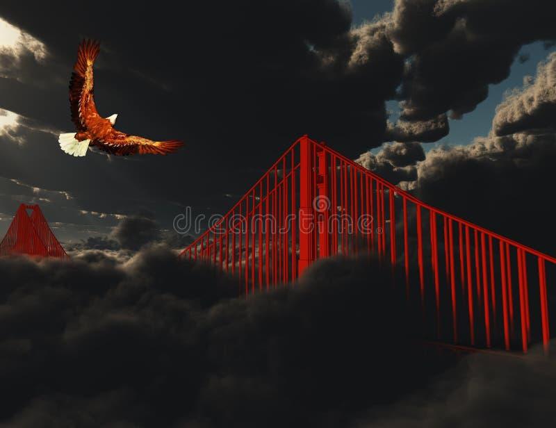 Puente Golden Gate en niebla pesada libre illustration