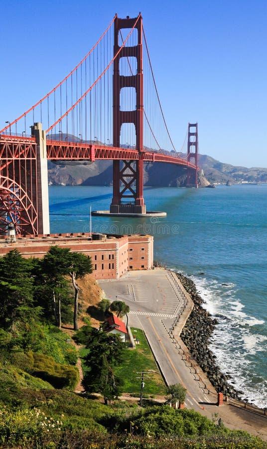Puente Golden Gate y el Presidio imagen de archivo libre de regalías