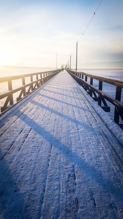 Puente helado fotos de archivo