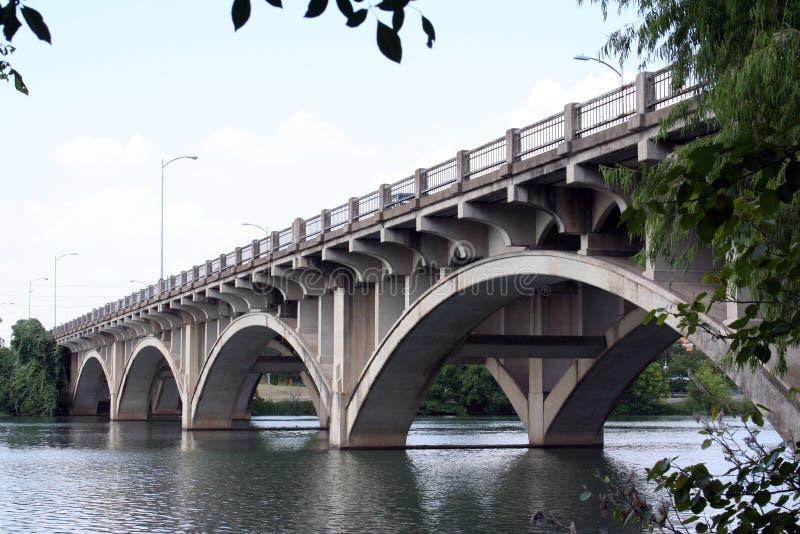 Puente histórico de Lamar en Austin, Tejas fotografía de archivo libre de regalías