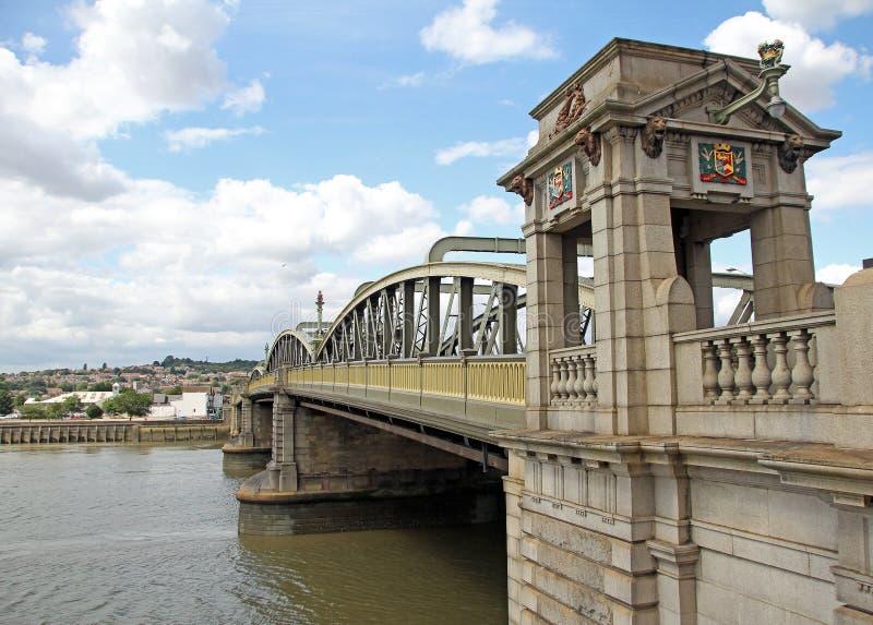 Puente histórico de Rochester imagen de archivo libre de regalías