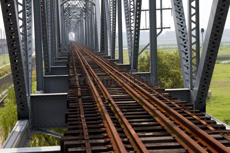 Puente histórico del hierro foto de archivo libre de regalías