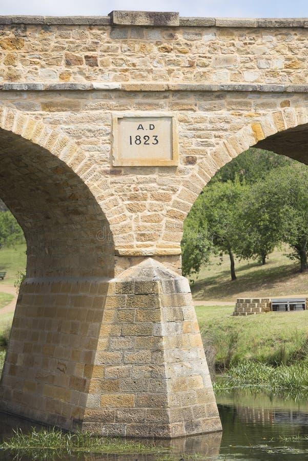 Puente histórico Richmond Tasmania imagenes de archivo