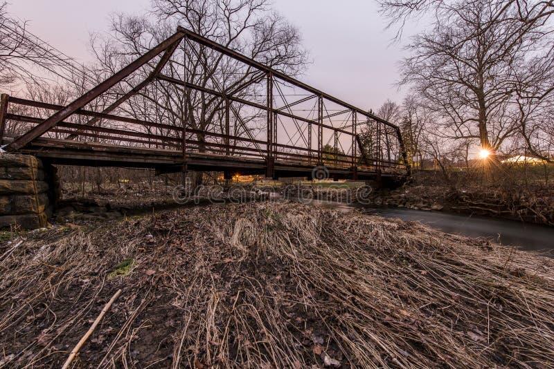 Puente histórico - Washington County rural, Pennsylvania fotos de archivo