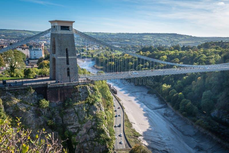 Puente icónico en Clifton, Bristol imágenes de archivo libres de regalías
