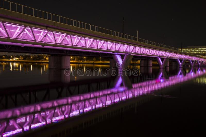 Puente iluminado fotos de archivo
